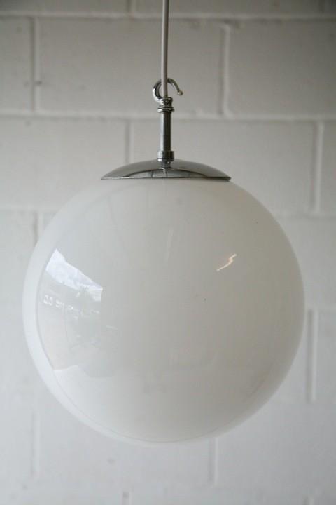 Vintage 1930s Glass Ceiling Light
