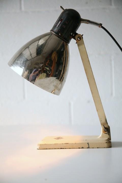 Vintage Industrial Desk Lamp by Grandiosa
