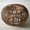 Vintage Wicker Stool by Franco Albini