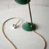 1950s Green Brass Desk Lamp