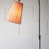 1950s White Chrome Floor Lamp
