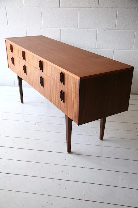 1960s Rosewood and Teak Sideboard Chest of Drawers by Elliots of Newbury