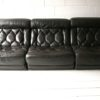 1970s Brown Leather Sofa by Tetrad UK 1