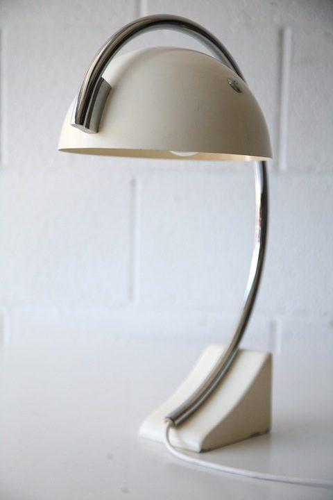 1970s Italian Chrome Desk Lamp