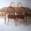 Ercol Dining Table and 6 Chairs1