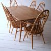 Ercol Dining Table and 6 Chairs5