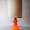 Large Orange Glass 1970s Table Lamp1