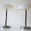 Pair 1970s Chrome Plastic Table Lamps1