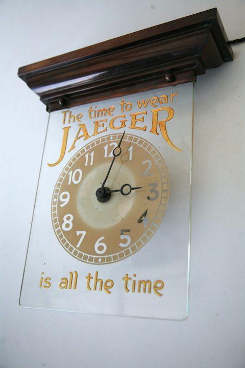 Vintage Jaeger Advertising Clock 5