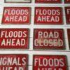 Set of 9 Vintage Glass Road Warning Slides 4