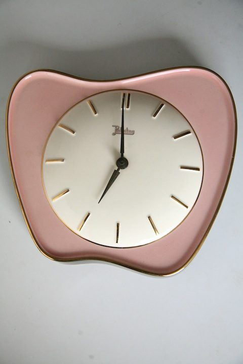 Vintage 1950s Ceramic Wall Clock1