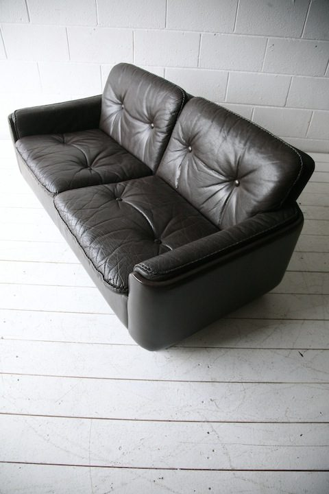Vintage Brown Leather 2 Seater Sofa by Vatne Mobler