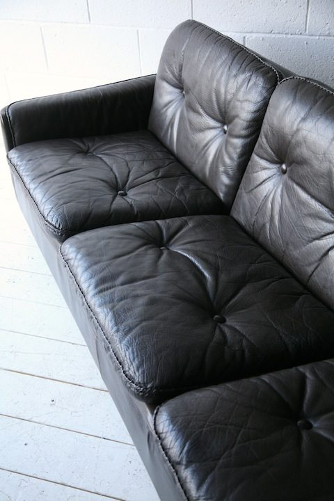 Vintage Brown Leather 3 Seater Sofa by Vatne Mobler