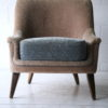 Cream and Blue 1950s Chair1