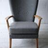 Howard Keith 1950s Grey Chair