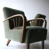 Pair of 1950s Green Armchairs2