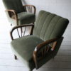Pair of 1950s Green Armchairs4