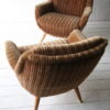 Pair of 1960s Brown Lounge Chairs