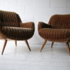 Pair of 1960s Brown Lounge Chairs1