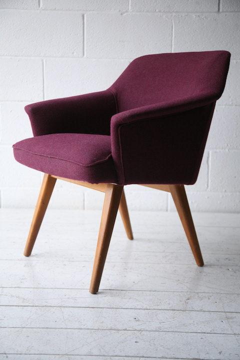 Purple 1950s Side Chair