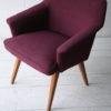 Purple 1950s Side Chair1