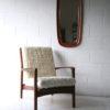 1960s Danish Teak Mirror1