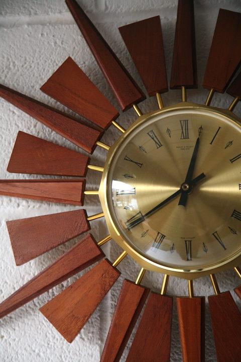 1960s Teak Anstey & Wilson Clock