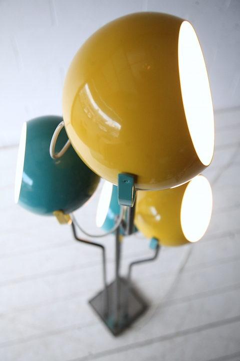 1970s Blue Yellow Floor Lamp2