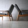 Pair of 1960s Beech and Mahogany Armchairs3