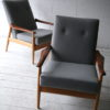 Pair of 1960s Beech and Mahogany Armchairs7