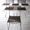 Set of 1970s Chrome Rubber Weave Stacking Chairs 1