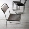 Set of 1970s Chrome Rubber Weave Stacking Chairs 2