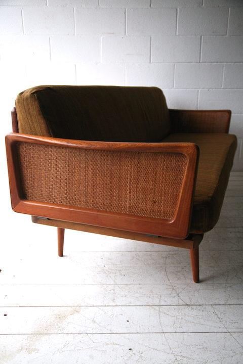 Teak Sofa Designed by Peter Hvidt Denmark 4