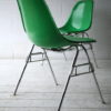 Vintage Charles Eames Green Shell Chairs for Herman Miller 4