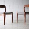 Vintage Teak Model 75 Chairs by Niels Moller2