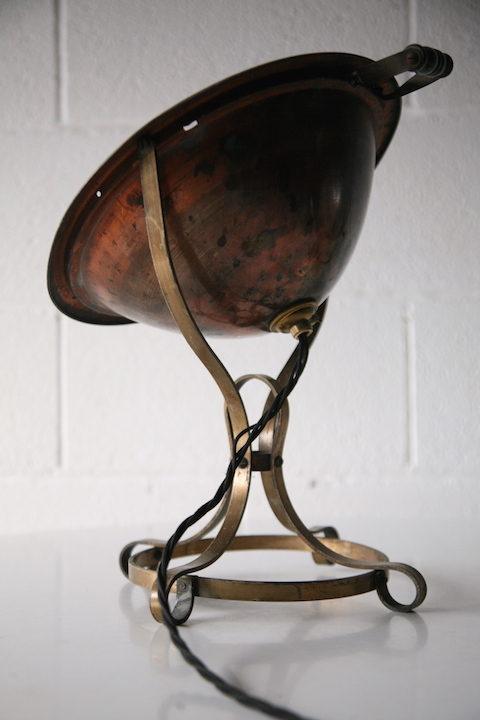 Industrial Copper Brass Heat Lamp