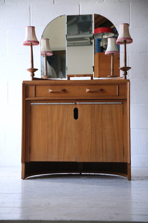 1950s E Gomme Oak Dressing Table