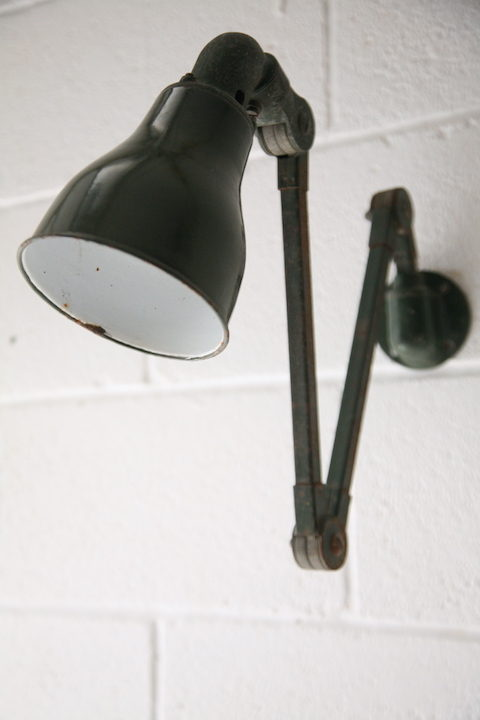 1950s Industrial Mek Elek Wall Lamp