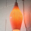 1950s Red Glass Wall Light