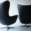 1960s Black Vinyl Swivel Chairs 2