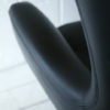 1960s Black Vinyl Swivel Chairs 4