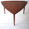 1960s Large Danish Teak Triangular Coffee Table