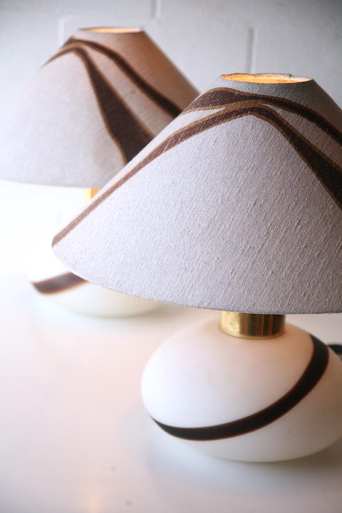 1970s Glass Table Lamps 2