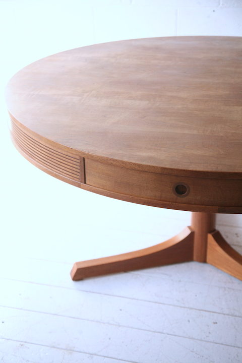 Teak Drum Dining Table by Robert Heritage