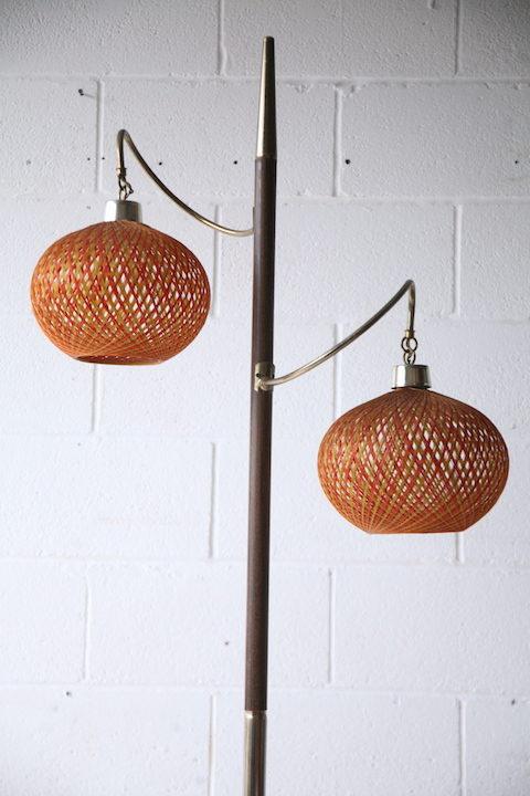 1950s American Double Floor Lamp