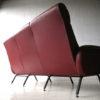 1950s Italian Red Vinyl Sofa 3