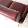1950s Italian Red Vinyl Sofa 7