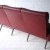 1950s Italian Red Vinyl Sofa 8