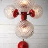 1970s 4 Bulb Orange Floor Lamp