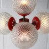 1970s 4 Bulb Orange Floor Lamp 2